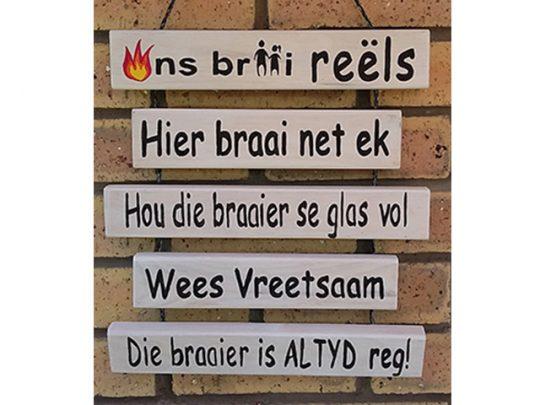 Ons Braai Reels Home Decor